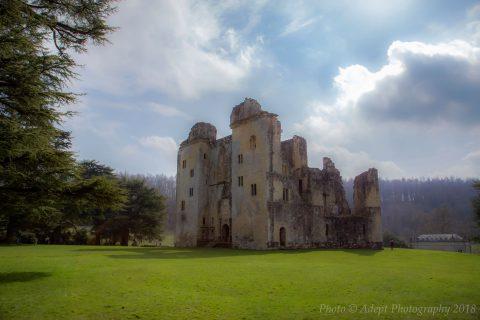 Donna & Spiker at Old Wardour Castle